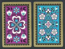 #920.875 vintage swap card -NEAR MINT pair- Pansy Pattern with gold highlights