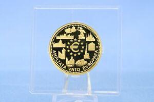 Belgien 100 Euro 2004 EU Erweiterung  15,55 Gramm - 999 Gold *PP* mit Kapsel