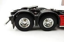 Para RC Truck Tamiya Man actros scania volvo enroscarse eje trasero aluminio 2 unidades 1:14