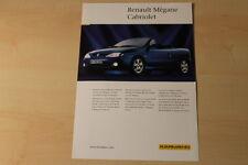 70378) Karmann Renault Megane Cabrio Prospekt 199?