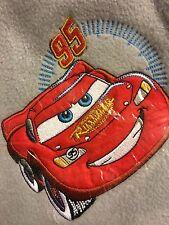 Disney Pixar Cars Lightning McQueen Blanket Size 60 By 50 FLeece Plush Throw New