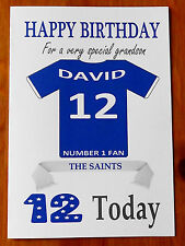 """ST JOHNSTONE FAN Unofficial PERSONALISED Football Birthday Card (""""THE SAINTS"""")"""