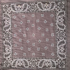 Vtg Antique Light Grey Scarf CRAFTED WITH PRIDE Cotton Handkerchief Neck Scarf