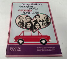 1970 Nancy Walkers  MANUAL FOR WOMEN DRIVERS by CALTEX   - HOLDEN MONARO