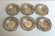GREAT SET/6 19th C. STERLING SILVER BLACK, STARR & FROST BUTTER PATS, 150 grams
