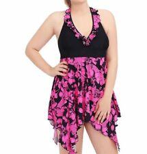 Polyester Floral Tankini Swimwear for Women