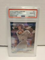 2018 Topps Chrome Gleyber Torres REFRACTOR ROOKIE RC #31 PSA 10 Gem Mint Yankees