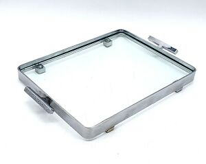 Vintage 1960's/70's small retro chromed & Glass oblong drink's/snacks tray - VGC