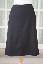 Marella Laine Noire Jupe Taille 14 Made in Italy Max Mara