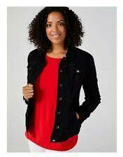 Nina Leonard Long Sleeve Stretch Denim Jacket Black Large RRP £49