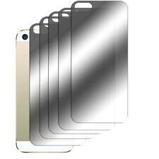5 x Spiegelfolie iPhone SE 5 5S Schutzfolie Mirror Rückseite Hinten Folie Film