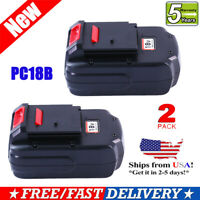 2Pack 18V Replace For Porter Cable PC18B PCC489N NI-CD Battery 18 Volt Cordless