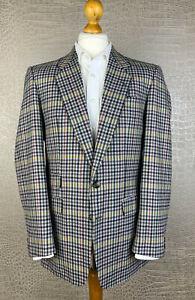 true Vintage WESTBURY Gr 50 Tweed Sakko 100% Schurwolle kariert Jacket Jacke 412