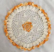 "White Orange 8"" Crochet Doilie"