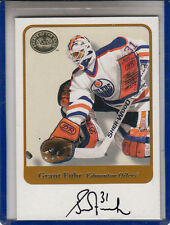 "2001-02 FLEER GREATS OF THE GAME GRANT FUHR ""EDMONTON OILERS AUTOGRAPH AUTO"