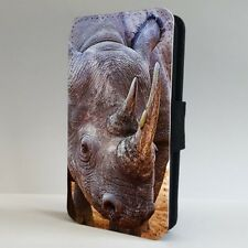 Black Rhinoceros Rhino Africa FLIP PHONE CASE COVER for IPHONE SAMSUNG