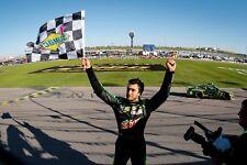 NASCAR SUPERSTAR CHASE ELLIOTT WINS AT KANSAS  8X10 PHOTO W/BORDERS