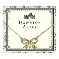 Downton Abbey Gold-Tone Crystal Edwardian-Inspired Bow Necklace 17613