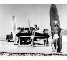 Surf models Vintage  Art Print Poster For Glass Frame Black White long Boards