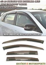 JDM Window Rain Guard Visors (Tinted) Fits 08-14 Impreza WRX STI