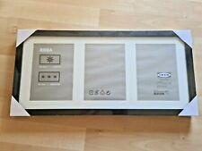 "IKEA Ribba Frame Black 3 Photo Frame Size: 19-3/4"" x 9"" - 501.325.26 - NEW"