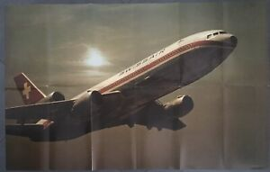 SWISSAIR AIRLINES DC10 INTRO BROCHURE 1970s SEAT CHARTS CUTAWAY