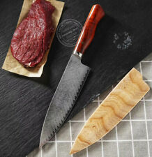Japanese VG10 Damascus Steel Chef Knife Kitchen Gyuto Wooden Sheath Kiritsuke