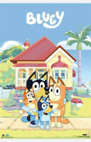 "BLUEY FAMILY IN FRONT OF HOUSE - BANDIT CHILLI BINGO - 91 x 61 cm 36"" x 24"""