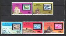 Ballons et Dirigeables Centrafrique (38) série complète de 5 timbres oblitérés