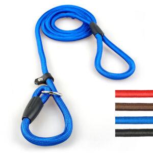 Dog P-Lead Slip Training Collar Lead Nylon Rope Obedience pet Dog Slip Lead Red