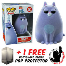 Funko Pop Secret Life Of Pets Chloe Flocked Vinyl Figure + Free Pop Protector