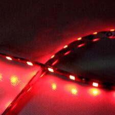 2X Red Car Decor 12V LED 30cm 5050 SMD Strip Flexible Contour Light Accessories