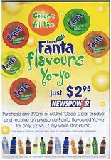 Original Fanta Flavours Yo-Yo Shop Poster, for Newspower Newsagent - YoYo
