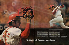 1969 print photo article JOHNNY BENCH CINCINATTI REDS Catcher baseball 041815