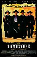 Tombstone Movie POSTER 11 x 17 Kurt Russell, Val Kilmer, Sam Elliott, B