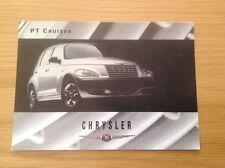 CHRYSLER PT CRUISER LAUNCH PROMOTIONAL POSTCARD/ADVERT/POSTCARD UNPOSTED