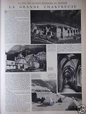 ARTICLE DE PRESSE 1932 LA GRANDE CHARTREUSE AU SEIN DES MONTAGNES DU DAUPHINÉ