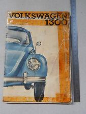 MANUALE USO MANUTENZIONE ORIGINALE VW MAGGIOLINO 1965 BEETLE KAFER VOLKSWAGEN