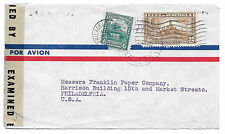 Venezuela Censored Commercial Cover 1944 WWII Caracas Airmail to US Sc C139 C151