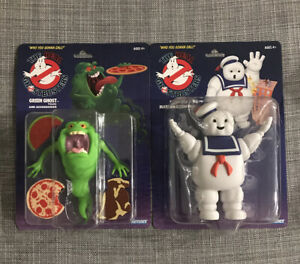 2020 The Real Ghostbusters Kenner Stay Puft & Green Ghost Slimer Figure Set Fast