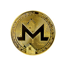 Monero Gold Cryptocurrency Collectors Coin