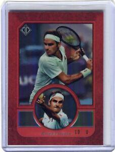 ROGER FEDERER 2020 Topps Transcendent Tennis HOF VIP #3 RED REFRACTOR 10/10