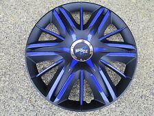 4 Radkappen 15 Zoll Maximus schwarz/blau Design TEUFEL  Modell 2015  Vw
