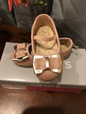 Carter's Girls 5t Shoes Rosw Gold