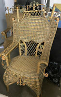 Pair Of Very Ornate AMAZING WICKER CHAIRS