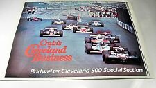 "CRAINS Budweiser Cleveland 500 Indy Car Special Section - 22 pages 11""x15"" 1983"