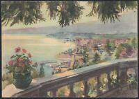 AB1068 Verbania - Intra - Veduta generale - Illustrazione - Cartolina postale