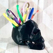 Skull Low Poly Pen Holder - Large - Gothic - Desk Tidy - Desk Storage - Pen Pot