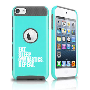For Apple iPod Touch 5th 6th Shockproof Hard Case Eat Sleep Gymnastics Repeat