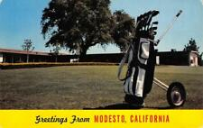 DEL RIO GOLF & COUNTRY CLUB Modesto, CA Golf Course ca 1960s Vintage Postcard